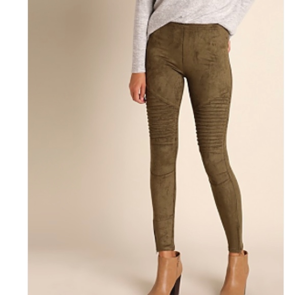 b5878f8670f NWT - High Waisted Suede Moto Jegging